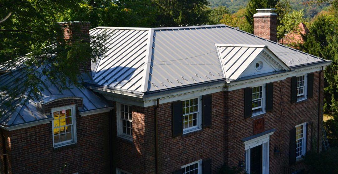 white metal roof