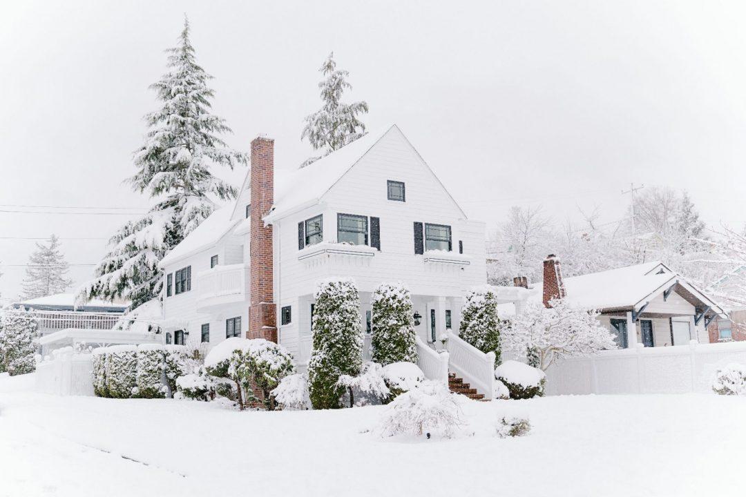 Snow ice chimney roof repair service