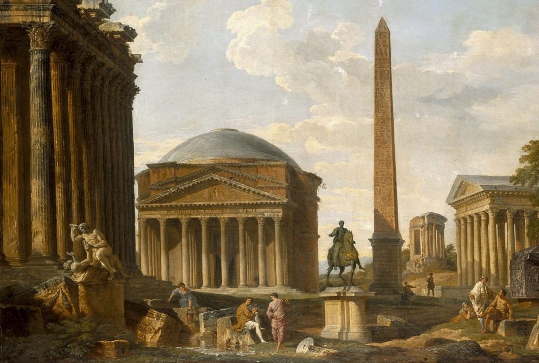 pantheon copper metal roof by giovanni paolo panini