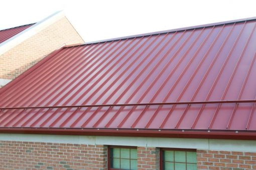 standing seam with snow bar
